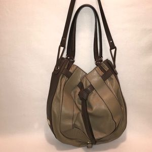 Kooba Parker Taupe/Beige Leather Hobo Bag